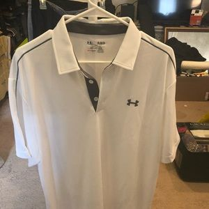 White Under Armour collared shirt